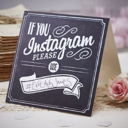 """If you instagram"" wedding/party sign -  pack of 5"